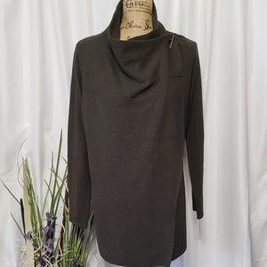 Tahari Wrap Extra Fine Wool Cardigan